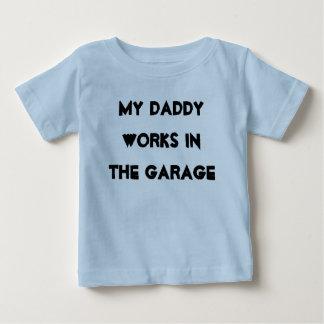 Camiseta Para Bebê Garagem do pai