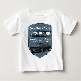Camiseta Para Bebê Garagem personalizada de Camaro