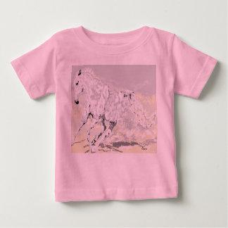 Camiseta Para Bebê Garanhão do branco do t-shirt do bebê