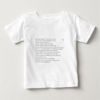 Camiseta Para Bebê Garantia da segurança