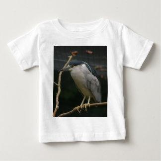 Camiseta Para Bebê garça-real de noite Preto-coroada