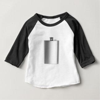 Camiseta Para Bebê Garrafa anca de aço inoxidável