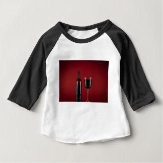 Camiseta Para Bebê Garrafa de vidro de vermelho de vinho