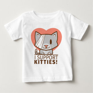 Camiseta Para Bebê Gatinho do apoio