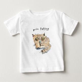 Camiseta Para Bebê Gatinho do gelo do cérebro