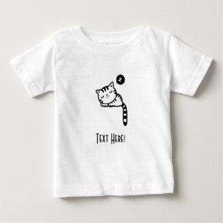 Camiseta Para Bebê Gatinho do sono