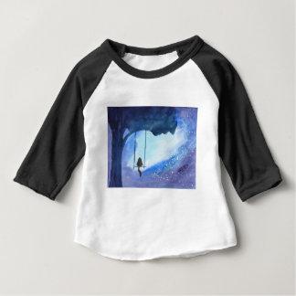 Camiseta Para Bebê Gatinho Stargazing
