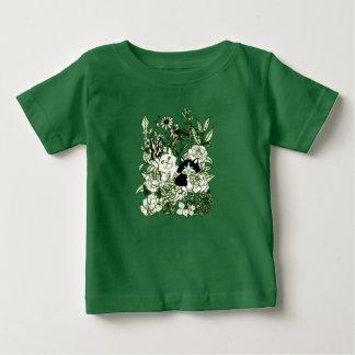 Camiseta Para Bebê Gatinhos nos Wildflowers