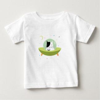 Camiseta Para Bebê Gato bonito do astronauta - gatinho do espaço