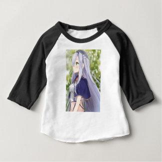 Camiseta Para Bebê Gato branco de Shiro Neko aka