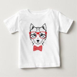 Camiseta Para Bebê gato com vidros