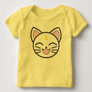 Camiseta Para Bebê gato da lua