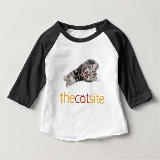 Camiseta Para Bebê Gato de bocejo ou de riso