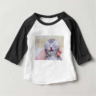 Camiseta Para Bebê Gato de gato malhado de prata recém-nascido