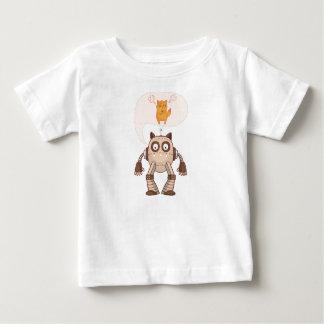Camiseta Para Bebê Gato de néon irritado engraçado com controlador de