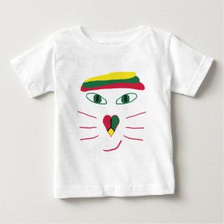 Camiseta Para Bebê Gato de Rasta