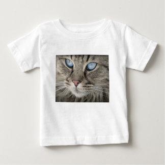Camiseta Para Bebê Gato de tigre animal dos olhos de gato do retrato
