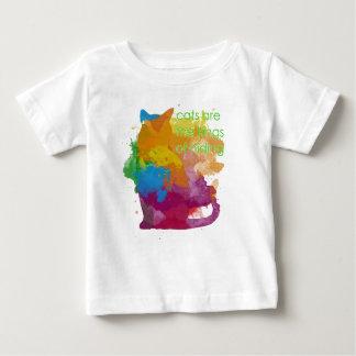 Camiseta Para Bebê Gato do gatinho da pintura do Splatter