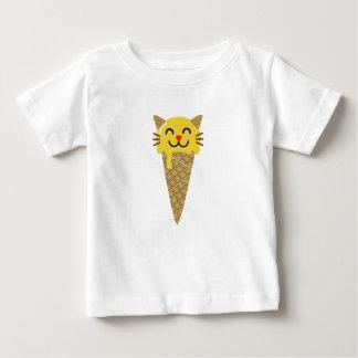Camiseta Para Bebê Gato do gelado de Emoji
