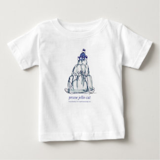 Camiseta Para Bebê gato do jello da ameixa seca dos fernandes tony