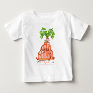 Camiseta Para Bebê gato do jello da cenoura dos fernandes tony