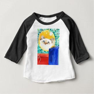 Camiseta Para Bebê Gato do Natal