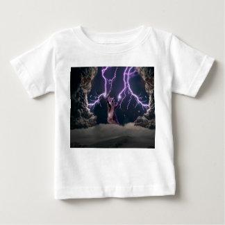 Camiseta Para Bebê Gato do relâmpago--gato do gatinho-animal de