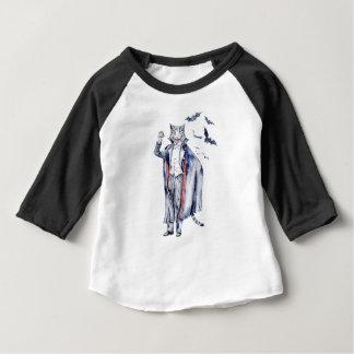 Camiseta Para Bebê Gato do vampiro de Catula da contagem