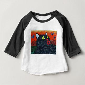 Camiseta Para Bebê Gato e as moscas