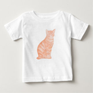 Camiseta Para Bebê Gato em Sépia