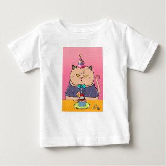 Camiseta Para Bebê Gato feliz