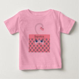 Camiseta Para Bebê Gato na caixa