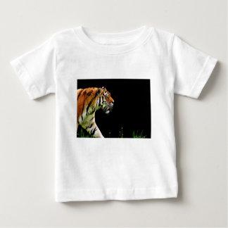 Camiseta Para Bebê Gato perigoso bonito da pele predadora do tigre