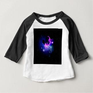 Camiseta Para Bebê Gato Portrait3 do espaço