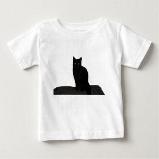 Camiseta Para Bebê gato preto