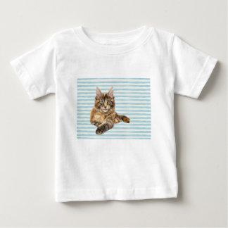 Camiseta Para Bebê Gato, racum de Maine