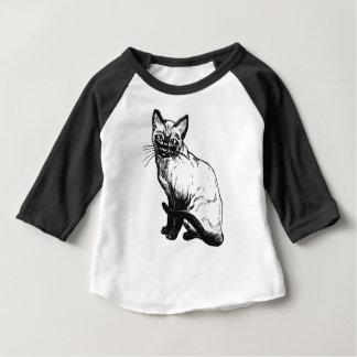 Camiseta Para Bebê Gato Siamese