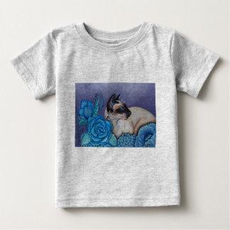 Camiseta Para Bebê Gato Siamese do ponto do chocolate