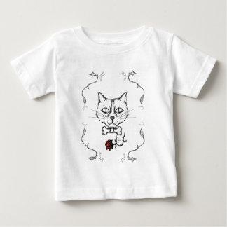 Camiseta Para Bebê Gato sofisticado
