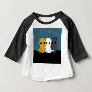 Camiseta Para Bebê Gatos bonitos