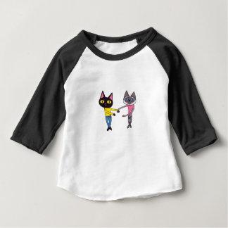 Camiseta Para Bebê Gatos de BFFs (bandeja & Chibi)