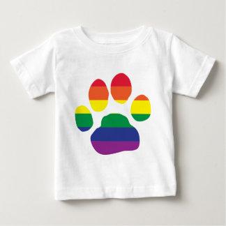 Camiseta Para Bebê Gay-Orgulho-Pata-Impressão
