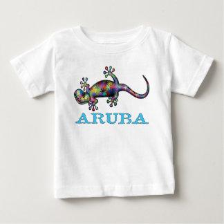 Camiseta Para Bebê Geco de Aruba