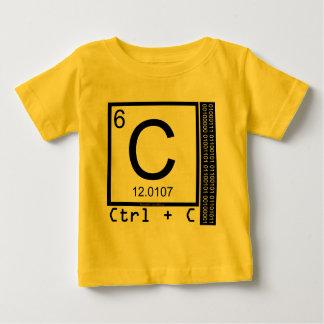 Camiseta Para Bebê Geek mim! Cópia de carbono