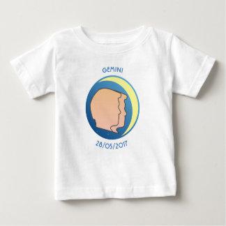 Camiseta Para Bebê Gêmeos do t-shirt do bebê do sinal da estrela