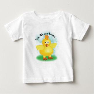 "Camiseta Para Bebê Gêmeos ""sim nós somos gêmeos """