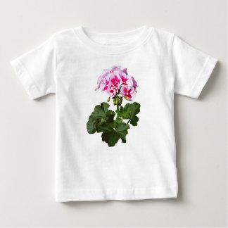 Camiseta Para Bebê Gerânio vermelho e cor-de-rosa