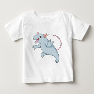 Camiseta Para Bebê Gerbil feliz