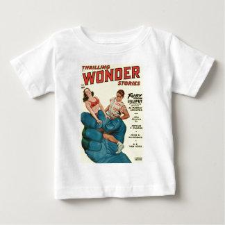 Camiseta Para Bebê Gigante e adolescentes azuis irritados