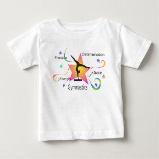 Camiseta Para Bebê Ginástica - determinação Grac da força da precisão